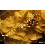 Authentic BALTIC AMBER PENDANT in STERLING SILV... - $85.00