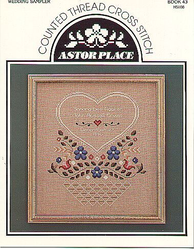 wedding sampler counted cross stitch pattern samplers