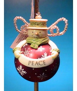 Grasslands Road Snowman Ornament Peace Holiday ... - $8.99