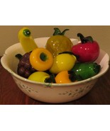 Vintage Glass Fruit ~ 14 Pieces  - $25.00
