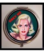 OBEY ME Pinup Vixen Pill box Pill Case Kitsch R... - $7.10