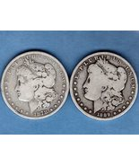 Silver Dollars 1878 S- 1889 O  Morgan Head US Coin - $70.00