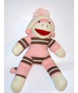 Dan Dee Pink Sock Monkey Plush Stuffed Animal B... - $9.99