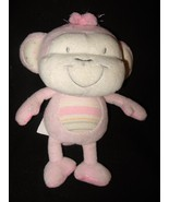 The Children's Place Pink Monkey Baby Toy Plush... - $14.98