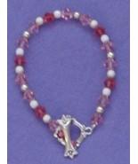 Handcrafted Pink Swarovski Crystal Bracelet 7
