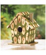 Birdhouse knotty wood richly trimmed with brigh... - $5.99