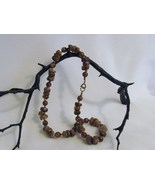 Vintage Brown Beaded Necklace - $1.99