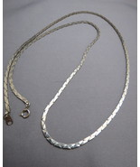 FREEBIE Silver Tone Necklace Nice Flat Chain 29... - $0.00