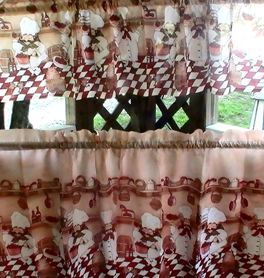 Fat Chefs Bistro Kitchen Cafe Curtains Jcpenney Curtains