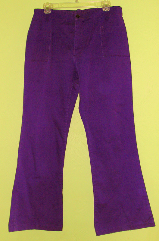Women's 70s Vintage Purple Denim Bellbottom Jeans Hippie