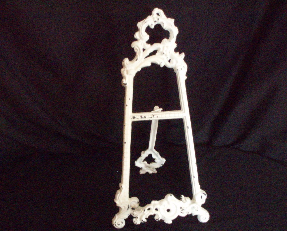 Cast Iron tabletop picture frame easel shabby chic