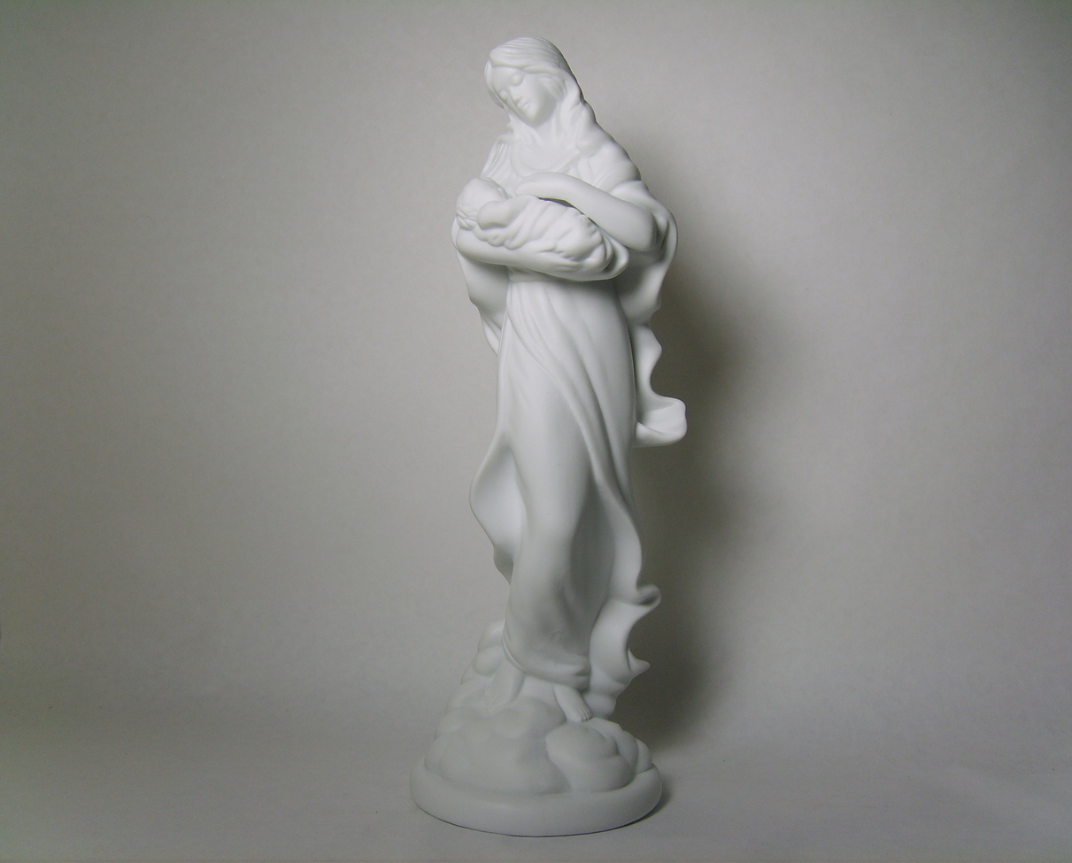 Teleflora White Fine Porcelain Figurine Mary Mother of Jesus