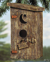 Outhouse Birdhouse Poly Resin