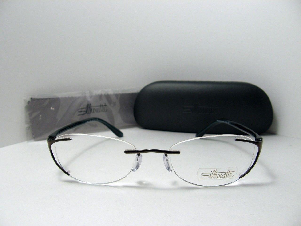 Eyeglass Frames Silhouette Titanium : New Authentic Silhouette Titanium Rimless Eyeglasses 6659 ...