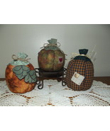 Handmade Fall Stuffed Pumpkins Country Rustic P... - $27.97