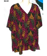 Jaclyn Smith Plus Size 18w Multi Color Blouse - $8.99
