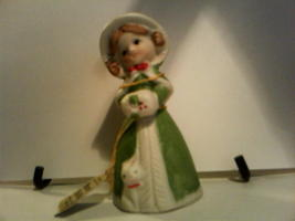 Christmas Merri-Bells Jasco 1978 Bisque Porcela... - $12.75