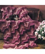 VICTORIAN RUFFLED RIPPLE AFGHAN CROCHET PATTERN~UNIQUE  - $11.99
