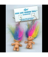 Russ Retired-TROLL DOLL EARRINGS-Tiny Retro Luc... - $14.97