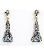 Edwardian Style Earrings Swarovski Crystals Rep... - $47.00