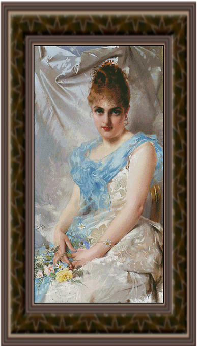 A Spring Beauty, Cross Stitch Pattern