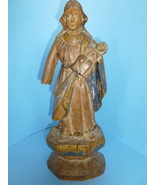 Antique Spanish Wood Santos Colonial Mother and... - $385.00