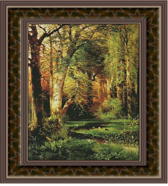 Forest Scene, Cross Stitch Pattern
