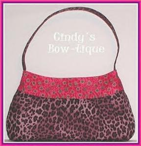 Purple Pink Purse Handbag Tote Leopard Gold Raspberry