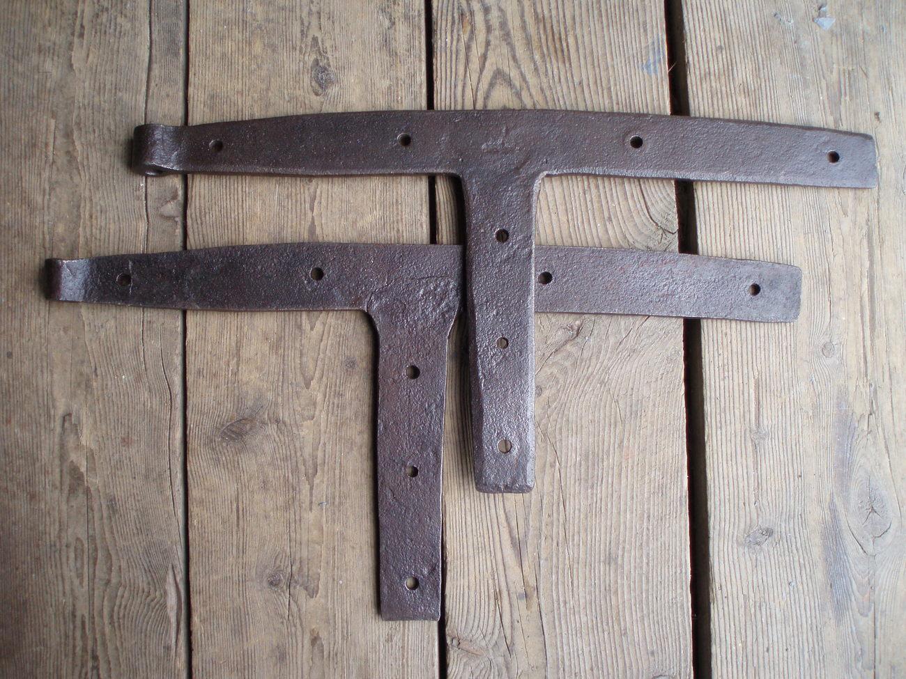 antique iron barn door hinges hand