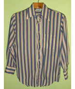Hipster 60s 70s Vintage Mod Striped Long Sleev... - $15.00