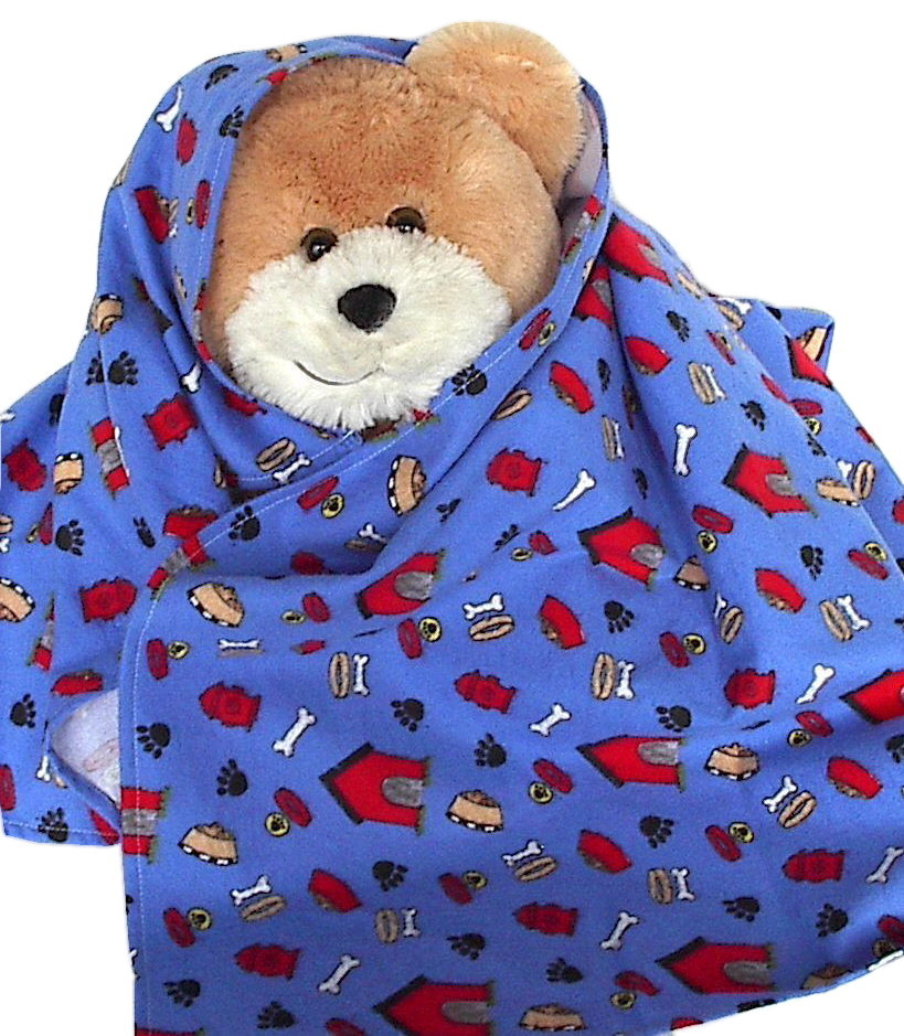 Cute Puppy Dog Flannel Baby Blanket  toddler handmade receiving swaddling  B