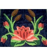 1930s Art Deco hand hooked Pillowcase Water Lil... - $28.00