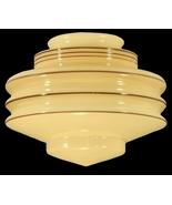 Nu-Gold Glass Art Deco Light Shade Globe Pendan... - $79.95