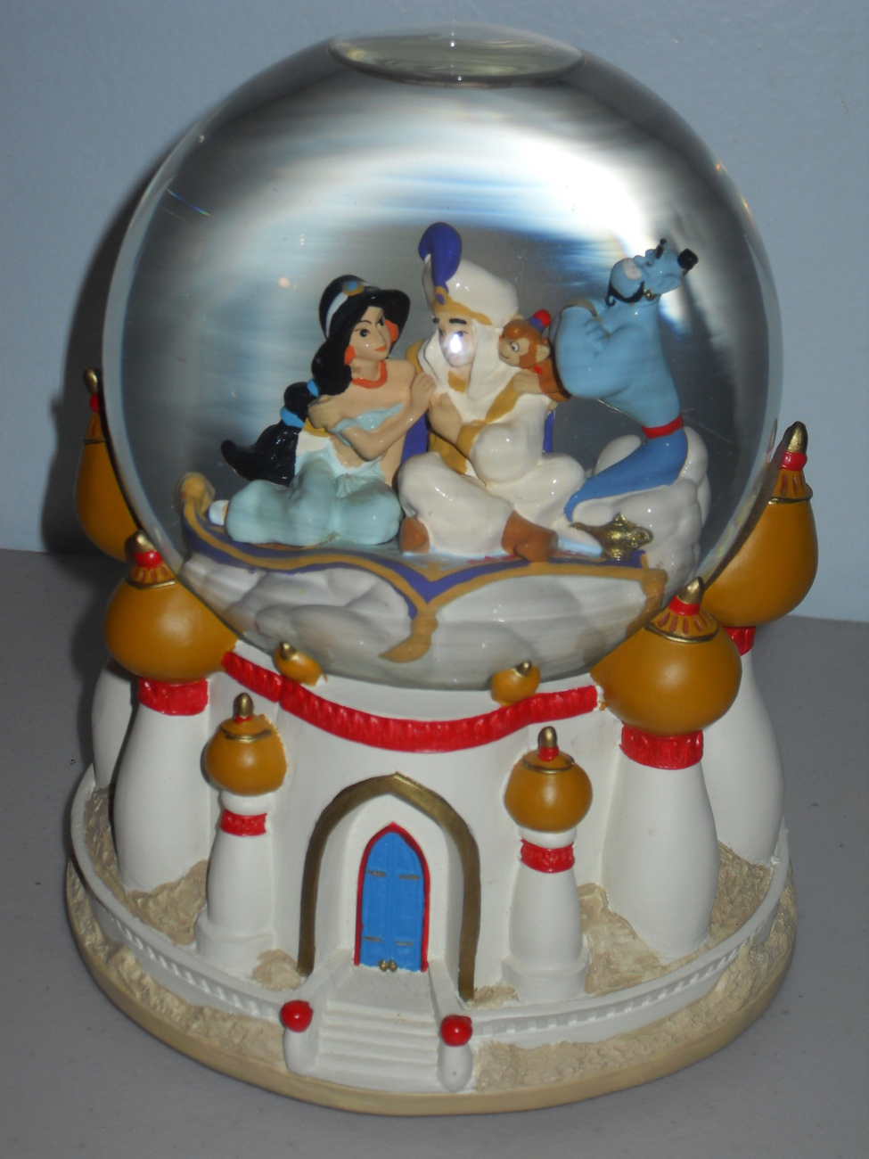 "Disney Aladdin Musical Water Globe ""A Whole New World"" Large Size"