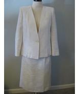 Classic White/Cream Ladies Business Suit Size 1... - $38.00