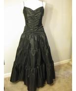 Formal Black Taffeta Gown By Jessica McClintock... - $68.00