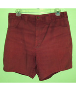 Men's 60's 70's Vintage Maroon Denim Shorts 32 - $14.95
