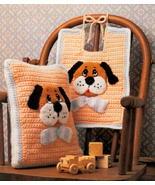CROCHET PATTERN Cute Baby Puppy Bib & Pillow  - $3.00