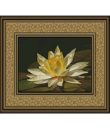 Lovely Lotus Flower, Cross Stitch Pattern - $25.00
