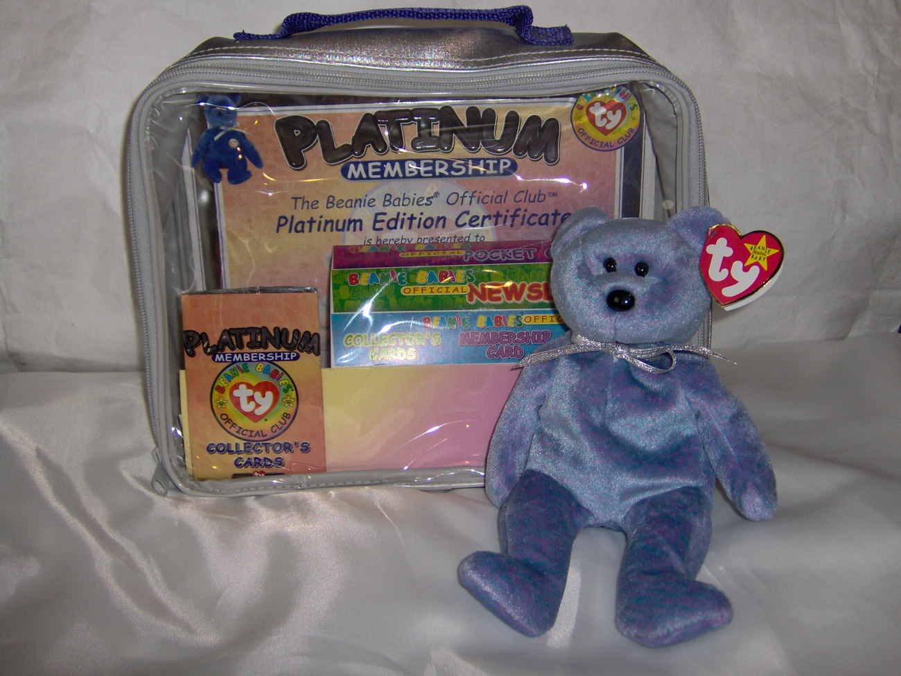 Beanie Baby Platinum Case, Bear, Cards Used
