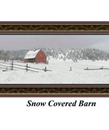 Snow Covered Barn, Cross Stitch Pattern - $25.00