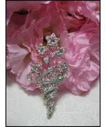 Sparkling SP WLIND Rhinestone Flower Bouquet Br... - $12.00