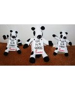 3 LOT CHICK-FIL-A COW EAT MOR CHIKIN TOY PLUSH ... - $9.94