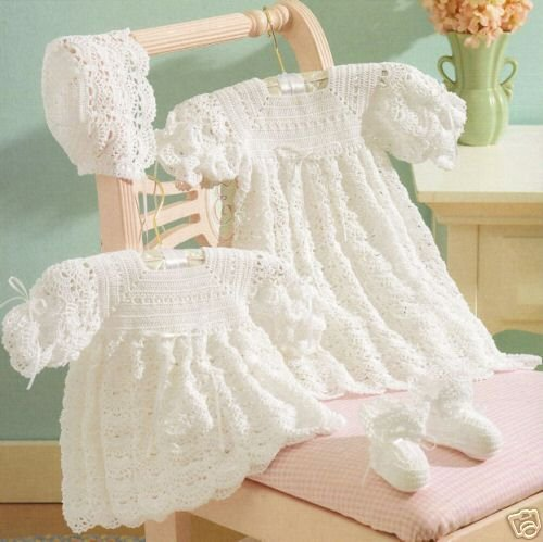 CHRISTENING CROCHET DRESS PATTERN VICTORIAN – Crochet Patterns