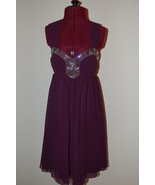 Lipsy Dress Purple Embellished Baby Doll US 6 N... - $60.00