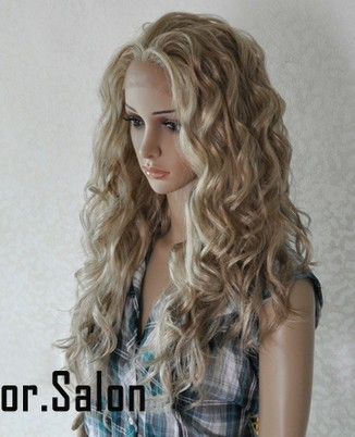 Hand Made Lace Front Synthetic Wigs Blonde 99#613M27
