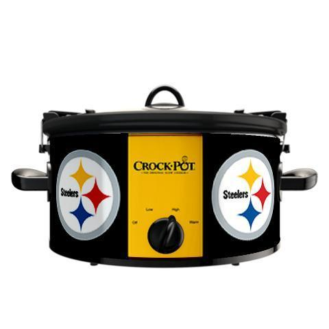 Official NFL Crock-Pot Cook & Carry 6 Quart Slow Cooker - Pittsburgh Steelers