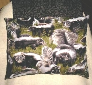 Skunk Lovers Neck Pillow Fabric New