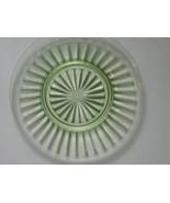Depression Glass Pillar Optic Green Luncheon Pl... - $10.00