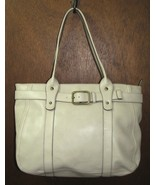 Large Cream Colored Crazy Horse Handbag Purse T... - $29.99